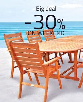 Big deal -30% on weekend