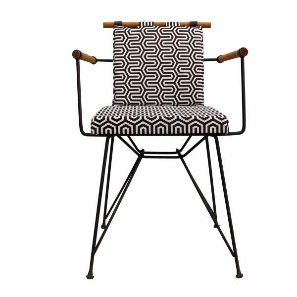 Penyes Tel Sandalye Siyah Beyaz