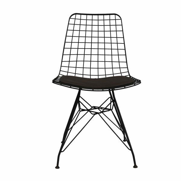 Siyah Tel Sandalye