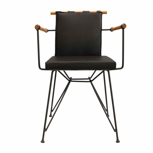Deri Penyes Sandalye Siyah